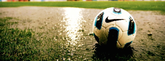 Voetbal-regen